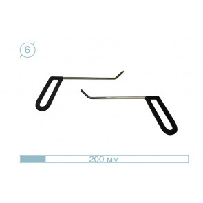 Комплект брасовых крючков 12008-6 AV-Tool