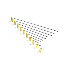 """PDR набор китовых хвостов 20 мм с фиксированной ручкой """"Желтый"""" Carepoint"""