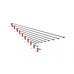 """PDR набор китовых хвостов 30 мм с фиксированной ручкой """"Красный"""" Carepoint"""