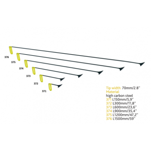 """PDR набор китовых хвостов 70 мм c фиксированной ручкой """"Желтый"""" Carepoint"""