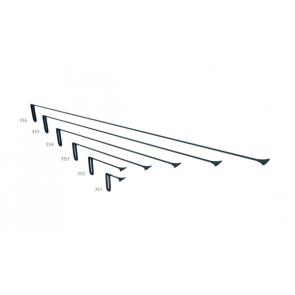 """PDR набор китовых хвостов 50 мм с фиксированной ручкой """"Черный"""" Carepoint"""