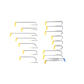 """Набор PDR крючков 8 мм с поворотной ручкой """"Желтый"""" Carepoint"""