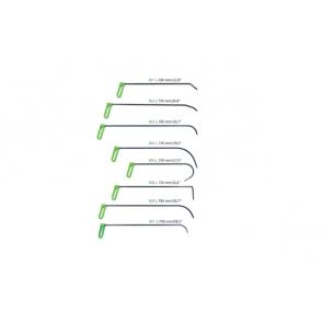 """Набор PDR крючков 9 мм с поворотной ручкой """"Зеленый"""" Carepoint"""